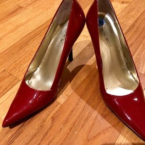 Red Nine West Pumps Size 7.5